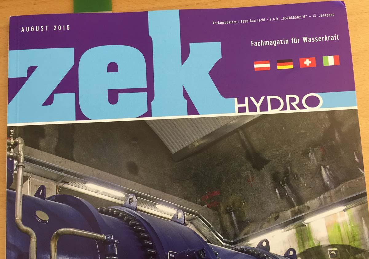 Das internationale Fachmagazin ZEK berichtet über das Kraftwerk Gurtnellen.