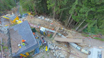 Kraftwerk Gurtnellen: eine Baustelle als Herausforderung